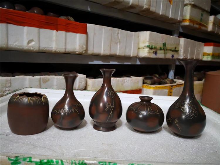 坭兴陶艺术花瓶,坭兴陶居家花瓶,坭兴陶办公室花瓶