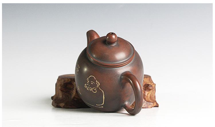 钦州陶大师精品周宇蛟茶壶作品