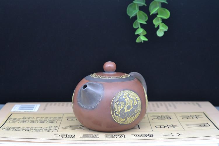中国四神兽精美坭兴陶茶壶