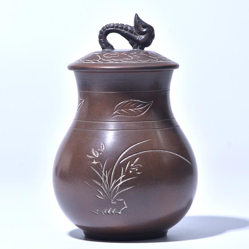 广西坭兴陶茶叶罐